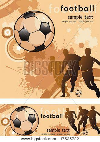 Futbolista de acción. Equipo de fondo abstracto hermoso. Original Vector ilustración deportes ser