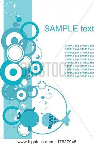Frame mit Aqua-design
