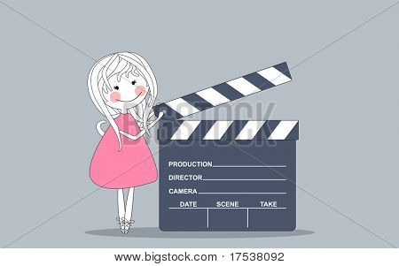 giant movie clapboard