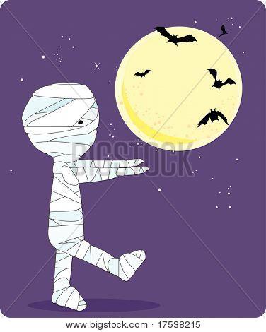 boy in mummy costume