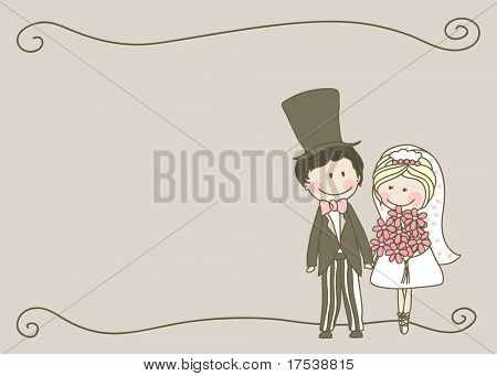 wedding set - couple standing and holding hands
