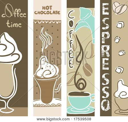 vertical coffee and hot chocolate banners