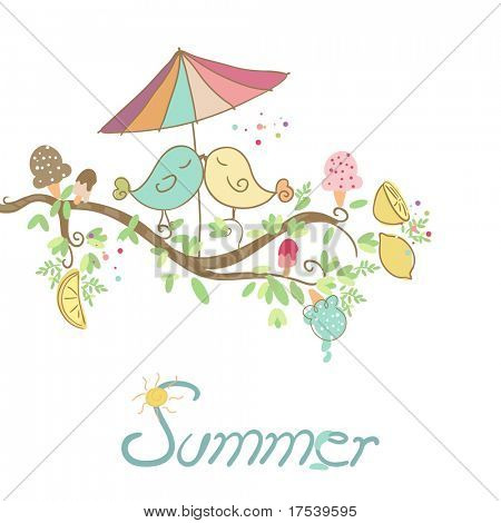 summer romantic card