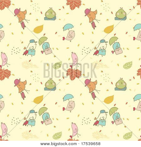 bird migration seamless pattern