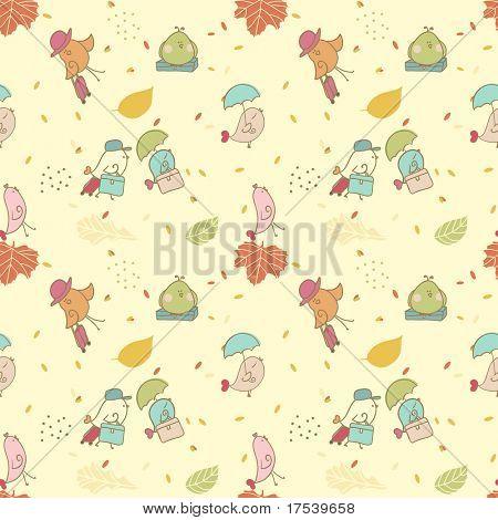bird migration seamless pattern
