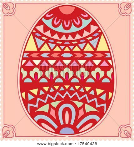 Vector card with a Easter egg