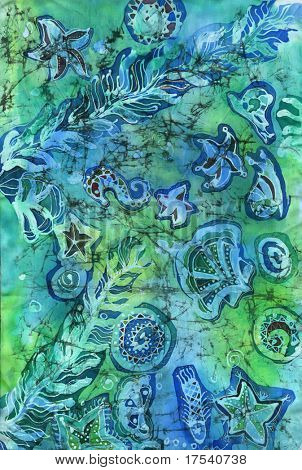 Image of my artwork on the subject of the sea life