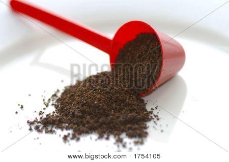 Coffee Scoop & Coffee