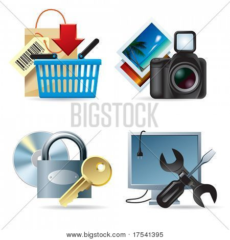 Vector set of computer & web icons II