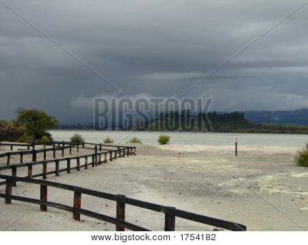 Sulphur Bay Under Stormy Sky