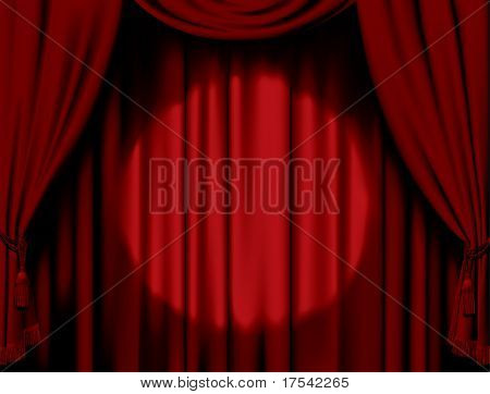 Vector illuminated red curtain