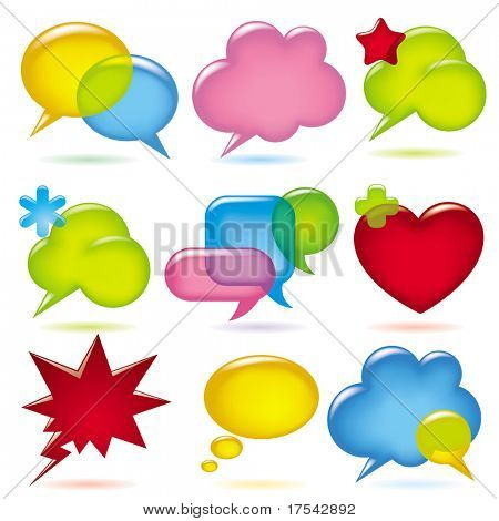 Raster version of vector image of chat speak bubbles