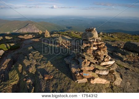 Cairn Marking Franconia Ridge Trail, White Mountains, Nh