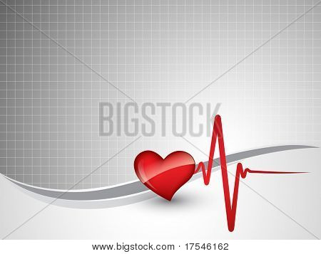 coração bate de ilustração vetorial