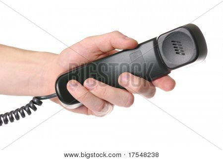 hand giving a phone tube