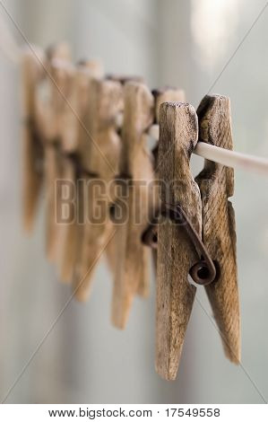 clothes pegs close-up