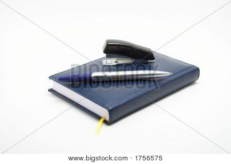 Business A Set - The Handle A Notebook A Folder