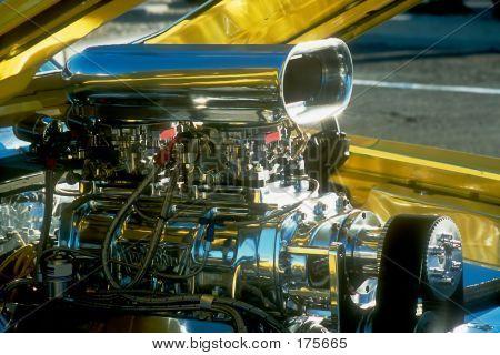 Chromed Blown Engine