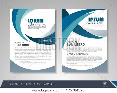 Modern blue brochure design vector photo bigstock for Brochures design templates