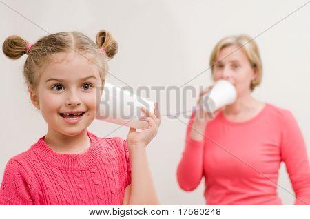 Communication - mug phone