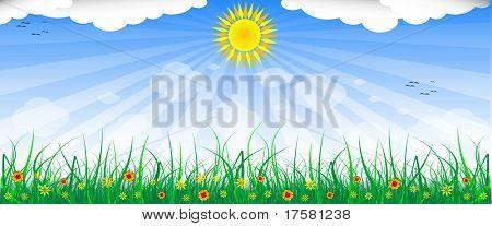 BLUE SKY (vector)