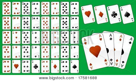 Illustration of game cards (vector)