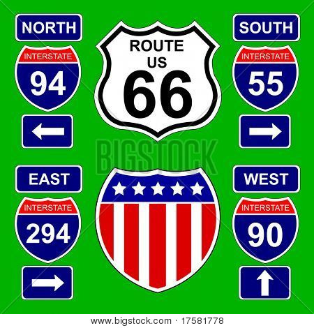 Highway signs (vector)