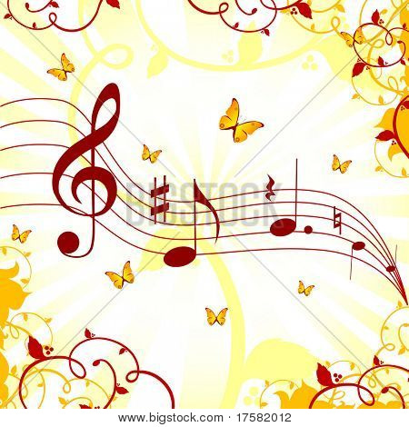Music sheet (vector)