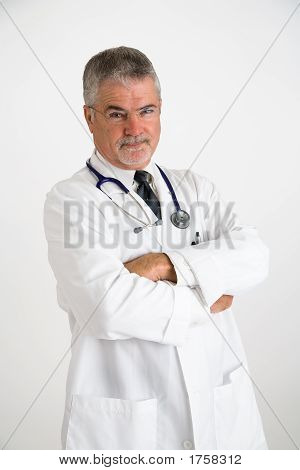 Doctor With A Disbelieving Expression