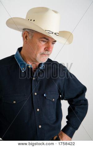 Cowboy Looking Sad