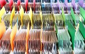 Colorful archives documents files and folders poster