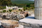 stock photo of ares  - This is the sanctuary of temple of Meson where the sacrifices where taking place - JPG