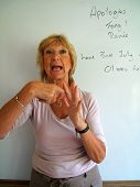 Lipreading Tutor Teaching Finger Spelling