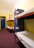 pic of bunk-bed  - A small hostel room which used to be a jail - JPG