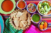 stock photo of poblano  - Mexican sauces pico de gallo habanero chili sauce Mexico spices - JPG