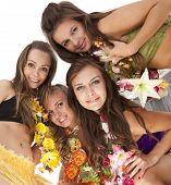 foto of hula dancer  - Beautiful hawaiian Hula Dancer Girls - JPG