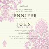 picture of wedding invitation  - Vector ornate floral background - JPG