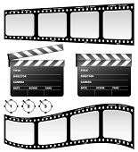 Clapboard and film (vector)