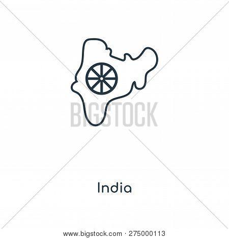 India Icon In Trendy Design
