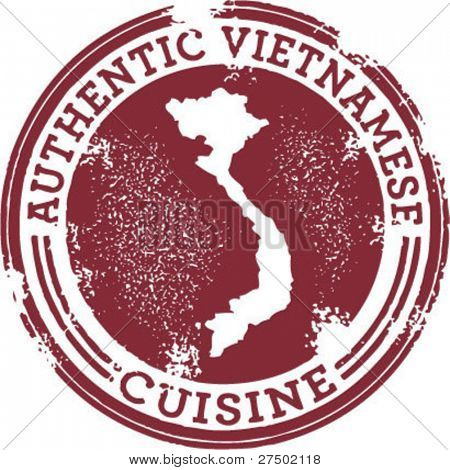 Classic Authentic Vietnamese Food Stamp