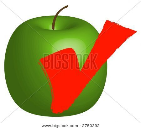 Apple W Check Mark 3D