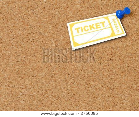 Corkboard With Tack N Ticket