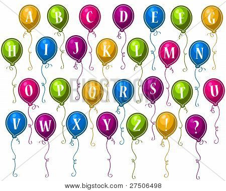 Alphabet Party Balloons