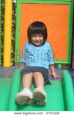 Girl On The Slides