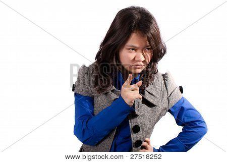 Strict asian girl