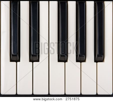 Close-up de teclas de Piano
