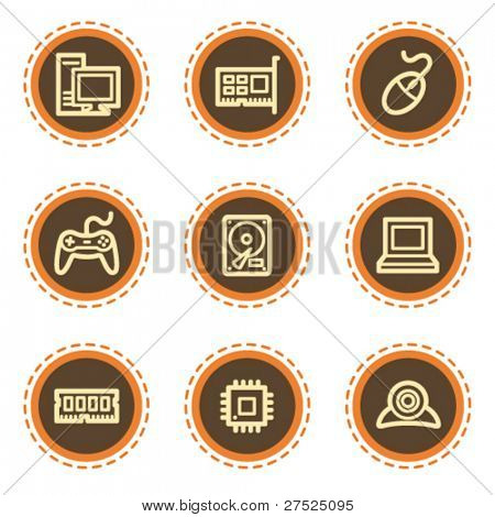 Computer web icons, vintage  buttons