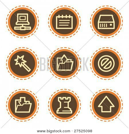 Data web icons, vintage  buttons
