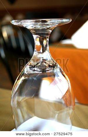 EMPTY GLASS UPSIDE DOWN