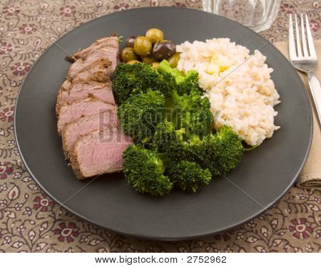 Brisket, Broccoli And Rice